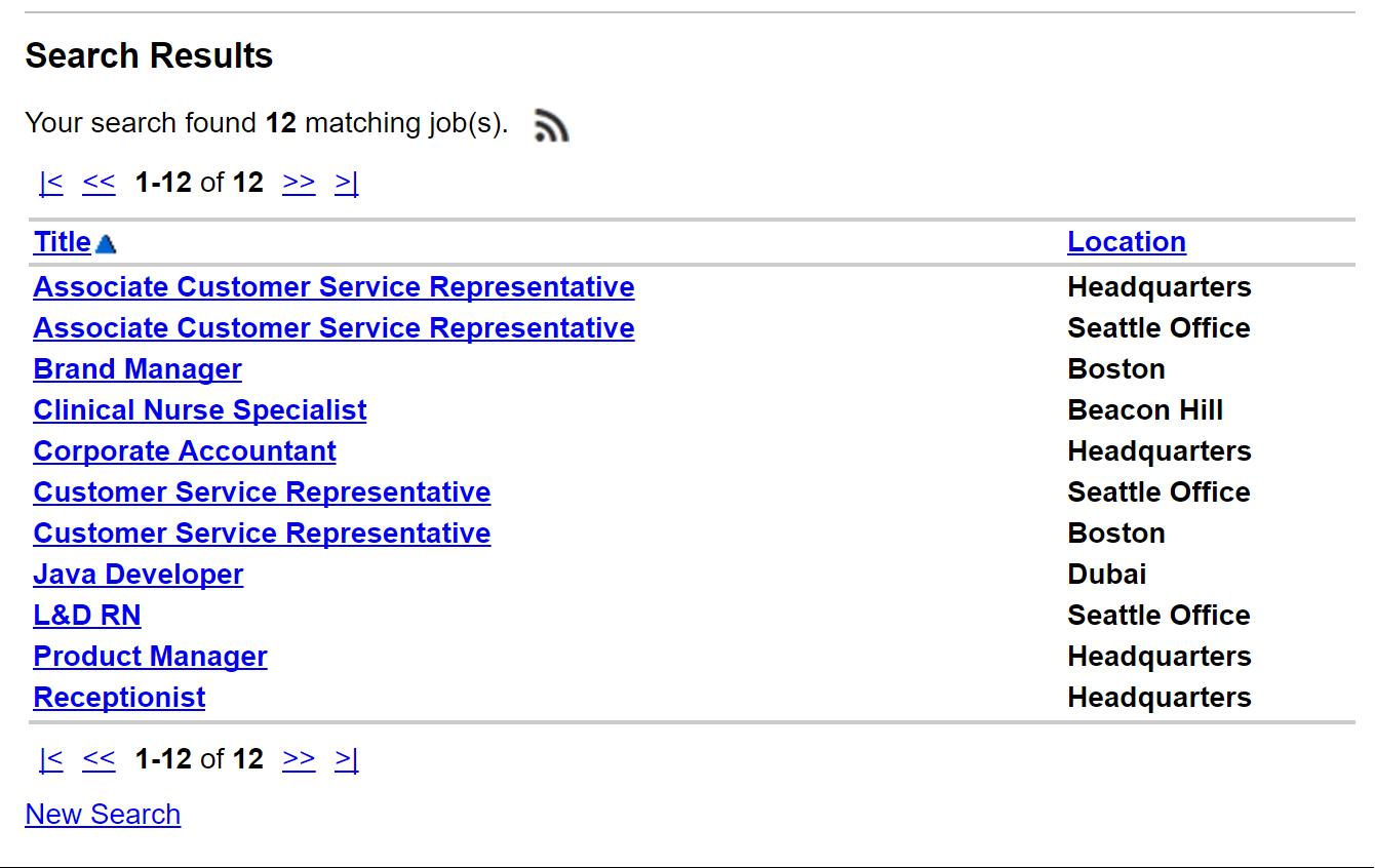 Job wrapping - job listing