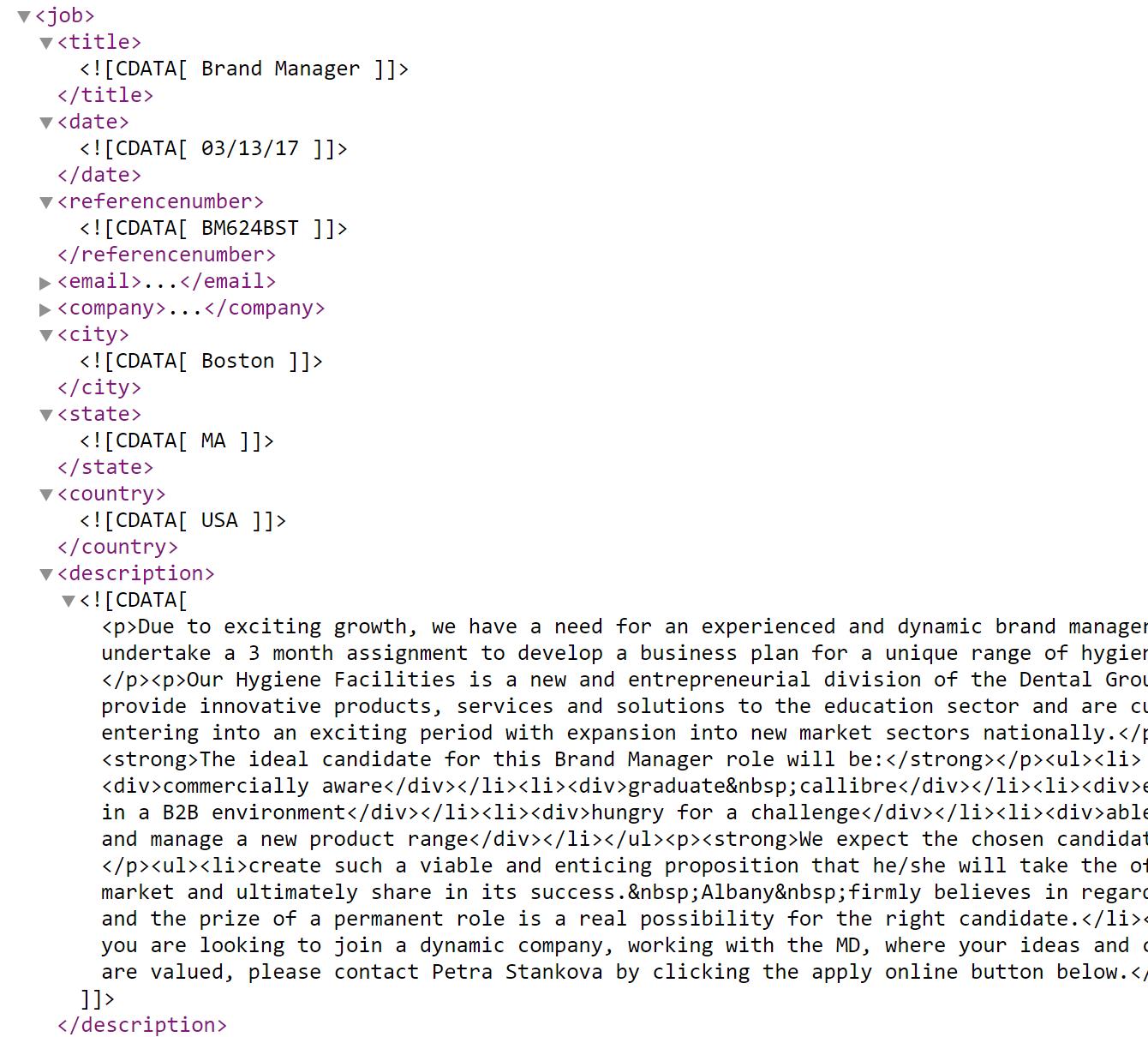 Job-wrapping-job-posting-via-XML